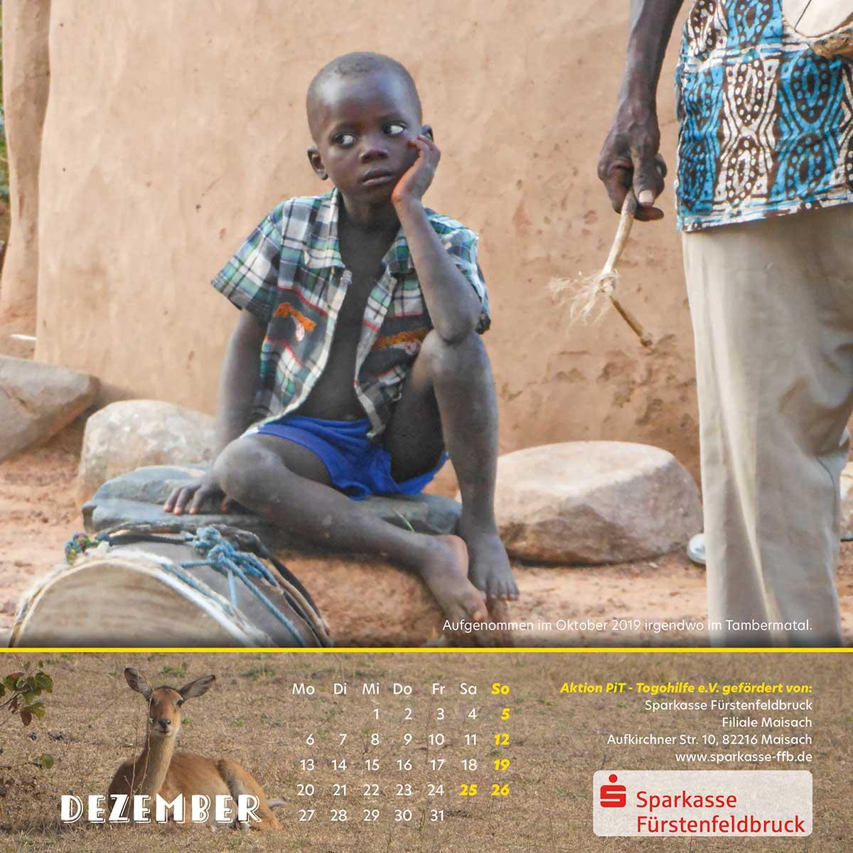 Togo-Kalender 2021 - Dezember