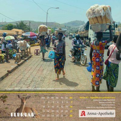 Togo-Kalender 2021 - Februar