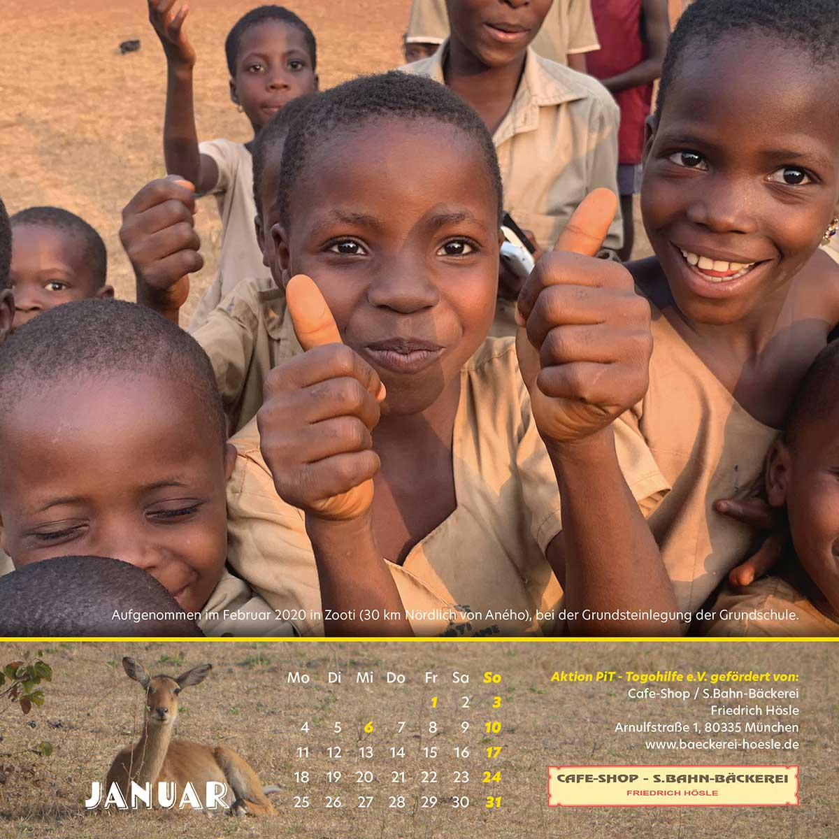 Togo-Kalender 2021 - Januar