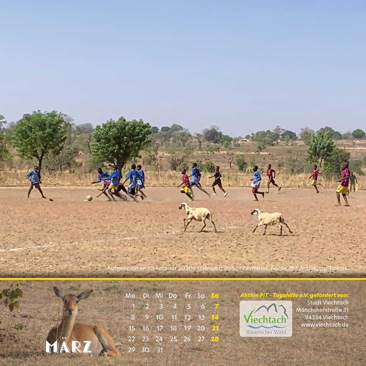 Togo-Kalender 2021 - Maerz