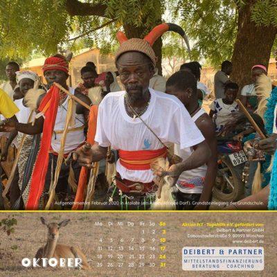Togo-Kalender 2021 - Oktober
