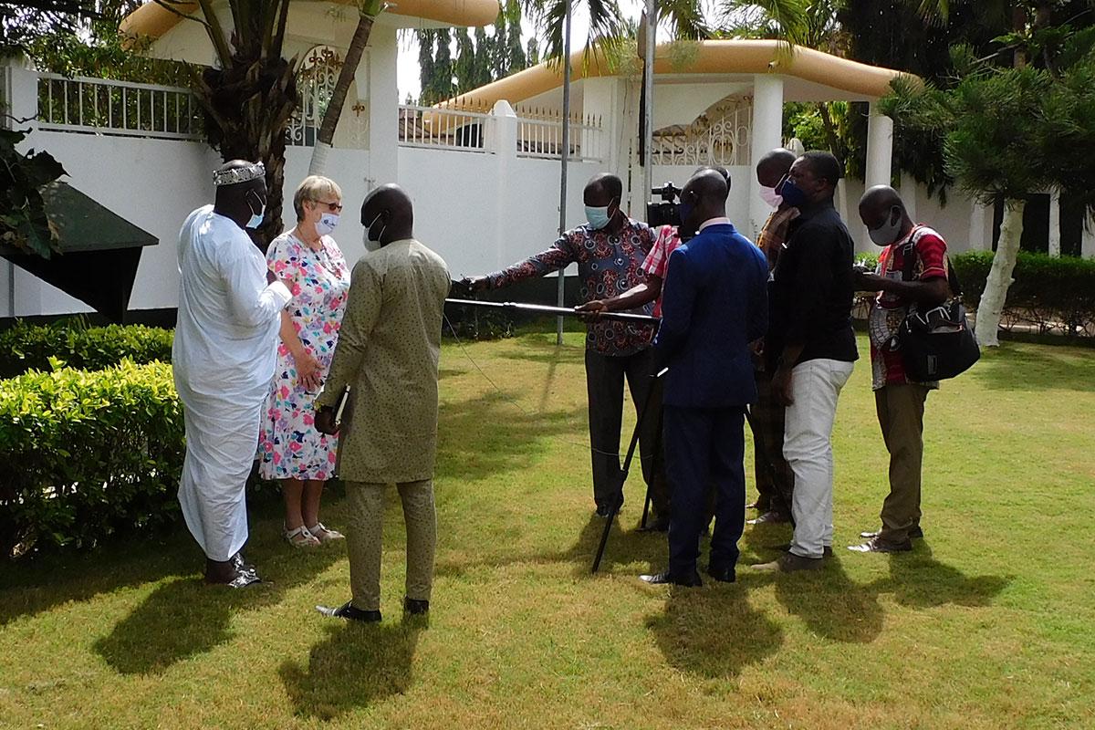 Interview für das togoische Fernsehen