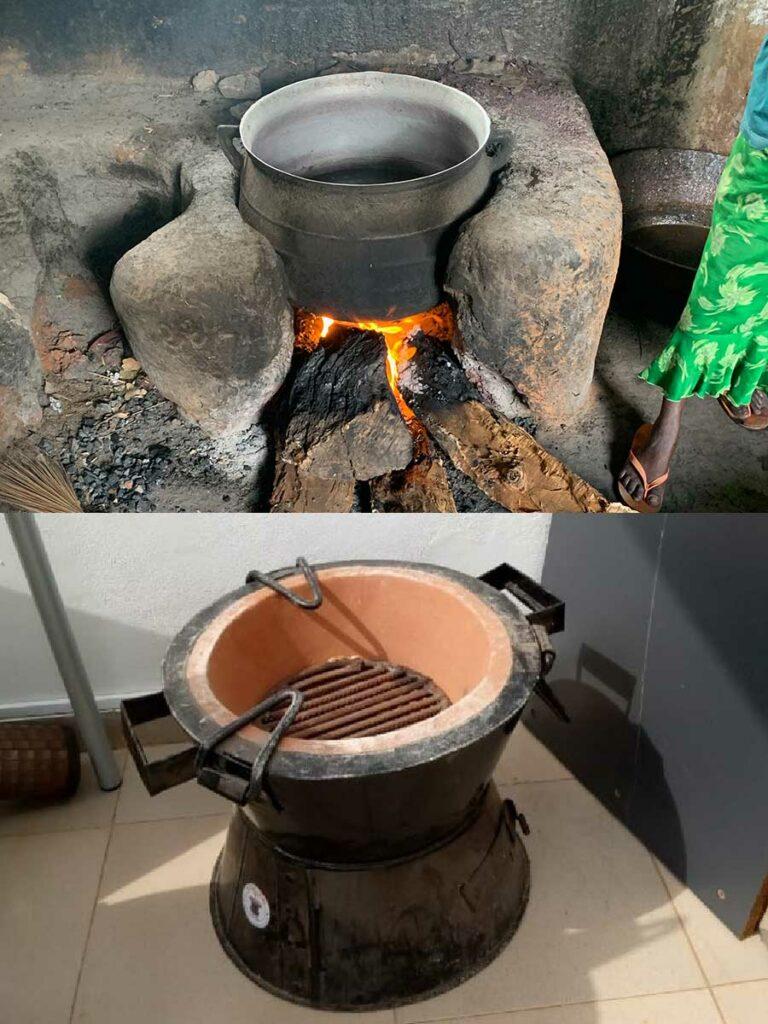 Kochstelle: oben alt und unten neu