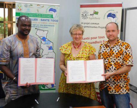 Dr. Michel Kodom von Aimes-Afrique, Margret Kopp und Andy Kopp